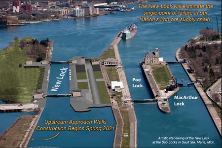 L.B. Foster Awarded $7 Million USACE Soo Locks Construction Project
